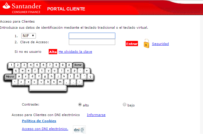 Contratar MasterCard Oro Santander Consumer Finance