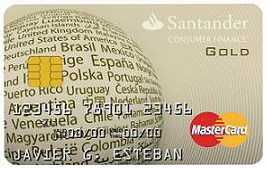 MasterCard Oro de Santander Consumer Finance